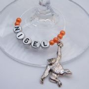 Orangutan Personalised Wine Glass Charm